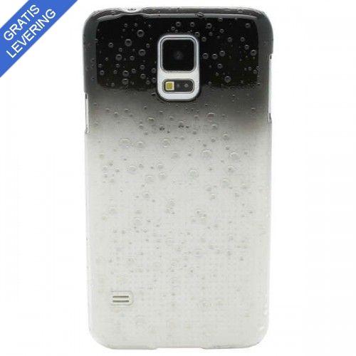 Sort Samsung Galaxy S5 Cover - Vanddråbe Design