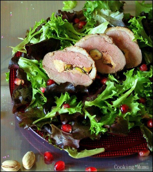 Ballotine de magret de canard au foie gras et fruits secs. | Cooking Mumu
