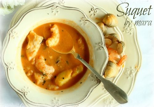 Traditional Spanish seafood stew recipe, Suquet de Peix made in the Thermomix kitchen machine by Mara from Spain.