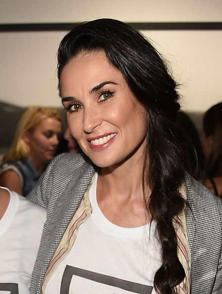 Demi Moore at the Tracy Paul & Company Hosts TORRID Brand Dinner With Rumer Willis To Celebrate The Launch Of The Spring Summer '15 Campaign. Hair by Gregory Russell. Makeup by Lauren Andersen.