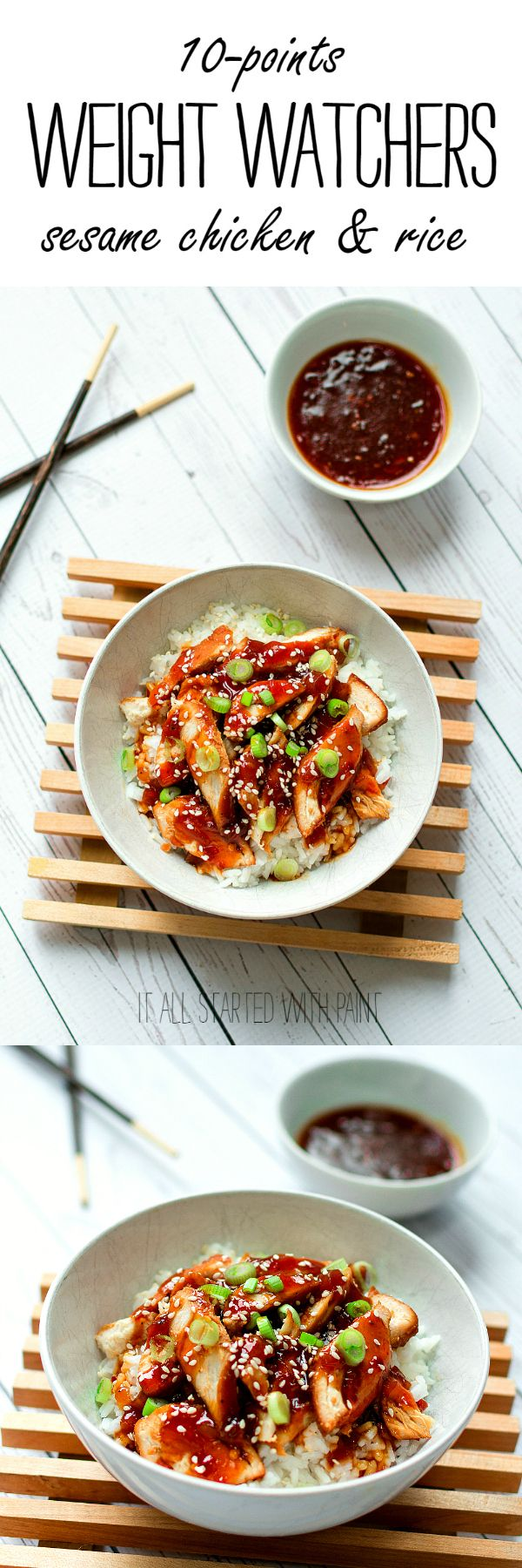 Weight Watchers Recipe Ideas for Dinner: Healthy Sesame Chicken Recipe - 10 Points - Weight Watchers Recipe Ideas - Weight Watcher Dinner Ideas @ It All Started With Paint www.itallstartedwithpaint.com