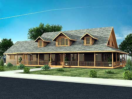 168 best one story ranch farmhouses with wrap around for Ranch house floor plans with wrap around porch