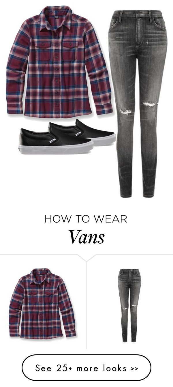 """Untitled #379"" by toni54321 on Polyvore featuring Patagonia, Citizens of Humanity and Vans"