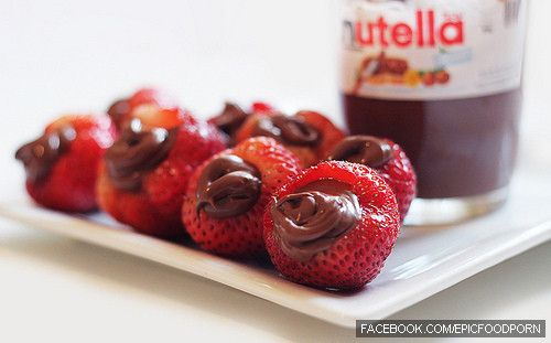 strawberries will always need their dear friend,Nutella :)