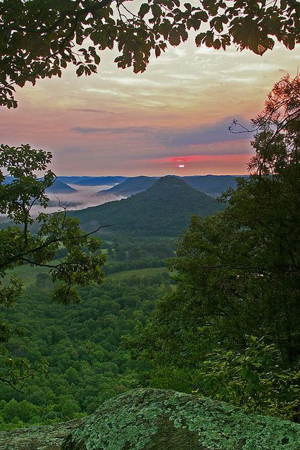 View from East Pinnacle near Berea, KY