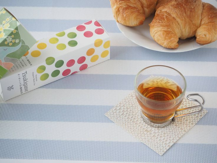 Organic Black Tea and Croissant