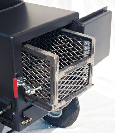 Optional Insulation in Firebox and Pullout Charcoal Basket