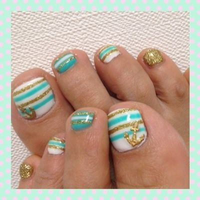 sailor toes-- NAVY BLUE instead of the teal for the wedding?!?!