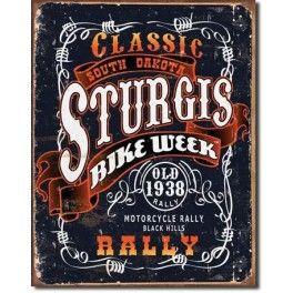 PLAQUE GARAGE : STURGIS CLASSIC RALLY