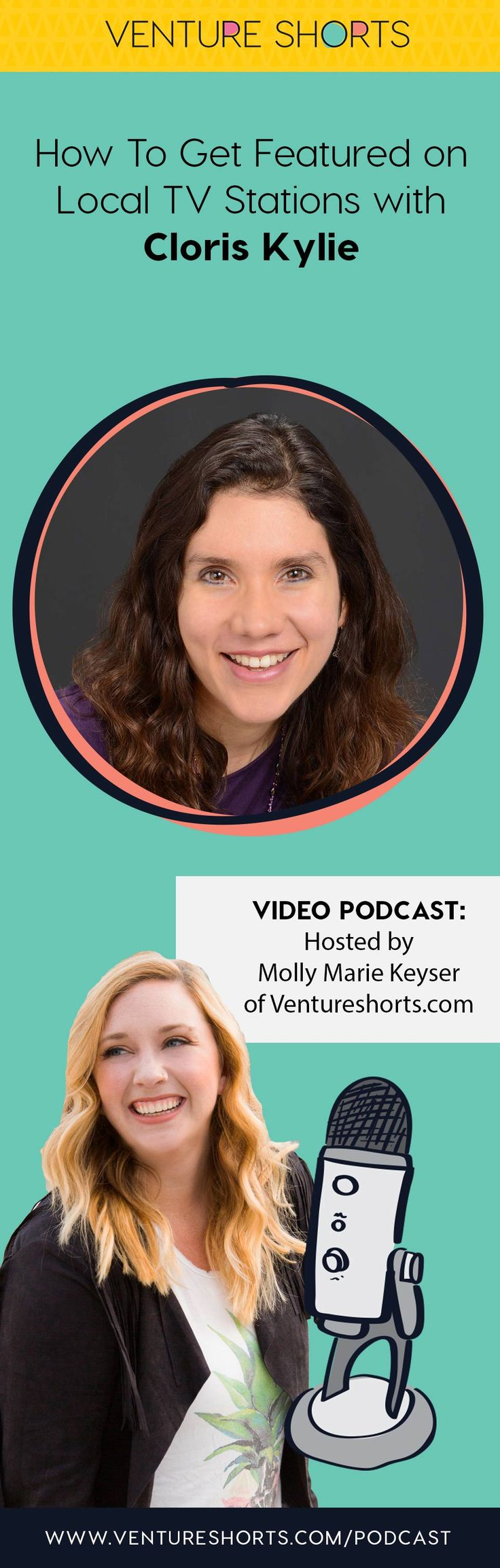 EPISODE 123 – Cloris Kylie and How To Get Featured on Local TV Stations https://ventureshorts.com/cloris-kylie/ Cloris Kylie, Marketing MBA, helps entrepreneurs to attract the right clients so that they skyrocket their impact and revenue!  A sought-after speaker, trainer, and author, Cloris has been featured on various television and radio shows, including top-ranked podcasts for entrepreneurs. Cloris's articles have been published on websites with millions of followers.