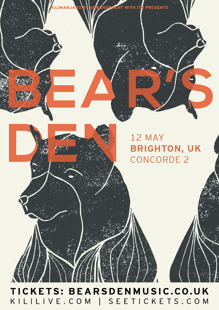 BEAR'S DEN'S Spring Tour 2014 will be their most ambitious to date. Taking place throughout May, they will be #live at #Concorde2 #Brighton on Monday 12th May! With the release of two EP's last year things are looking big for them in 2014. Prepared to be wowed, #Tickets just £8.50 ADV -CLICK THE IMAGE TO BUY!