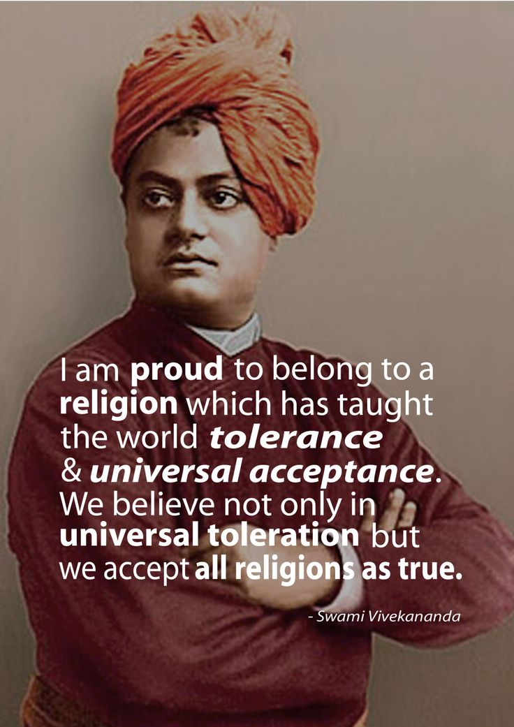 This quote is taken from 'The Complete Works of Swami Vivekananda'. Swami Vivekananda, a Hindu philosopher  saint, was responsible for introducing the practice and teachings of Yoga and vedanta* to the West at theParliament of World Religions in Chicago, 1893. What's impressive is that he began his speech in Chicago with: 'Sisters and brothers of America..' to which the audience of 7000 gave him a round of applause for 3 minutes non-stop.*vedanta is the ...