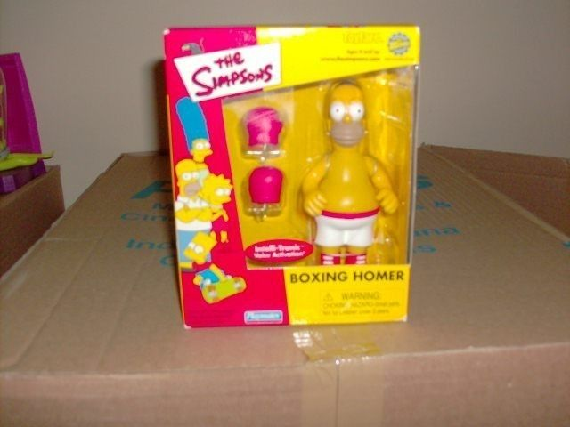 vintage the Simpsons toys | The Simpsons New In Box Boxing Homer Vintage wos