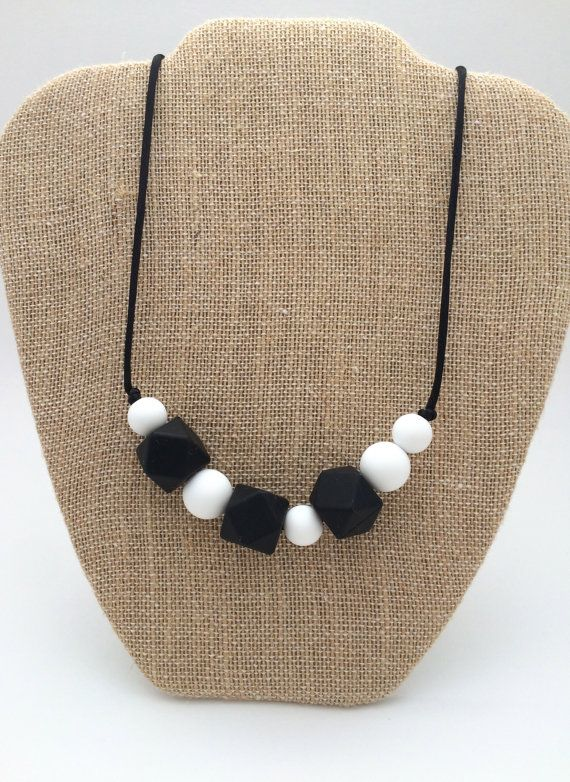 Silicone teething necklace. So cute!