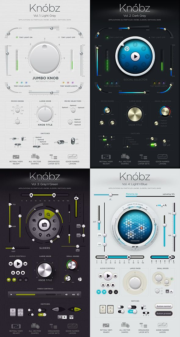 Knóbz: all 4 volumes by Alexey Kolpikov, via Behance  http://www.behance.net/gallery/Knobz-all-4-volumes/6384977