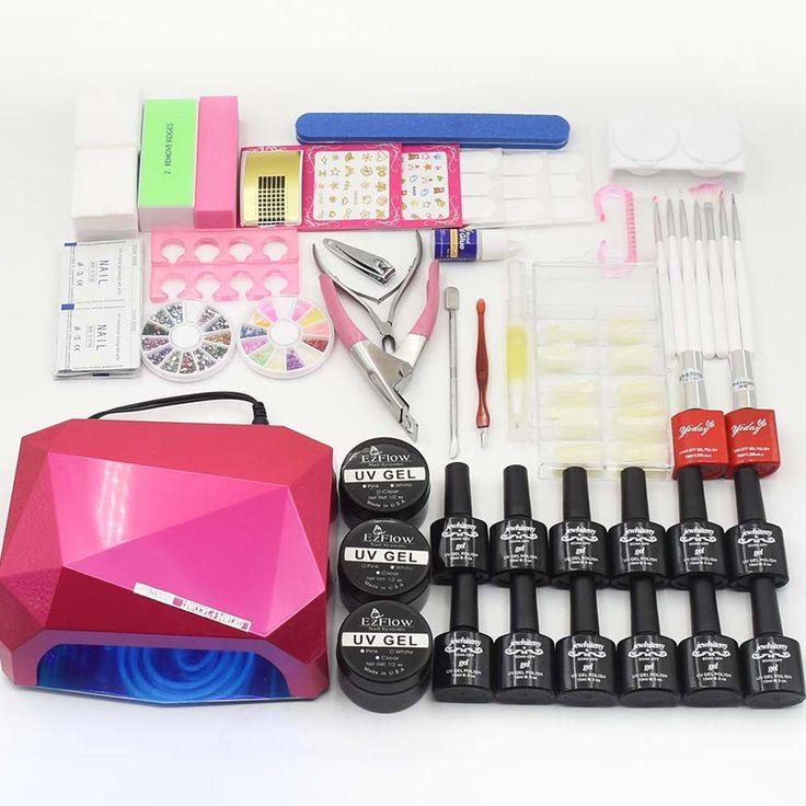 Nail Manicure Tool sets 36W diamonded shaped LED UV Lamp nail dryer with 10ml 12 color. Click visit to buy #Nail #Tool #NailTool