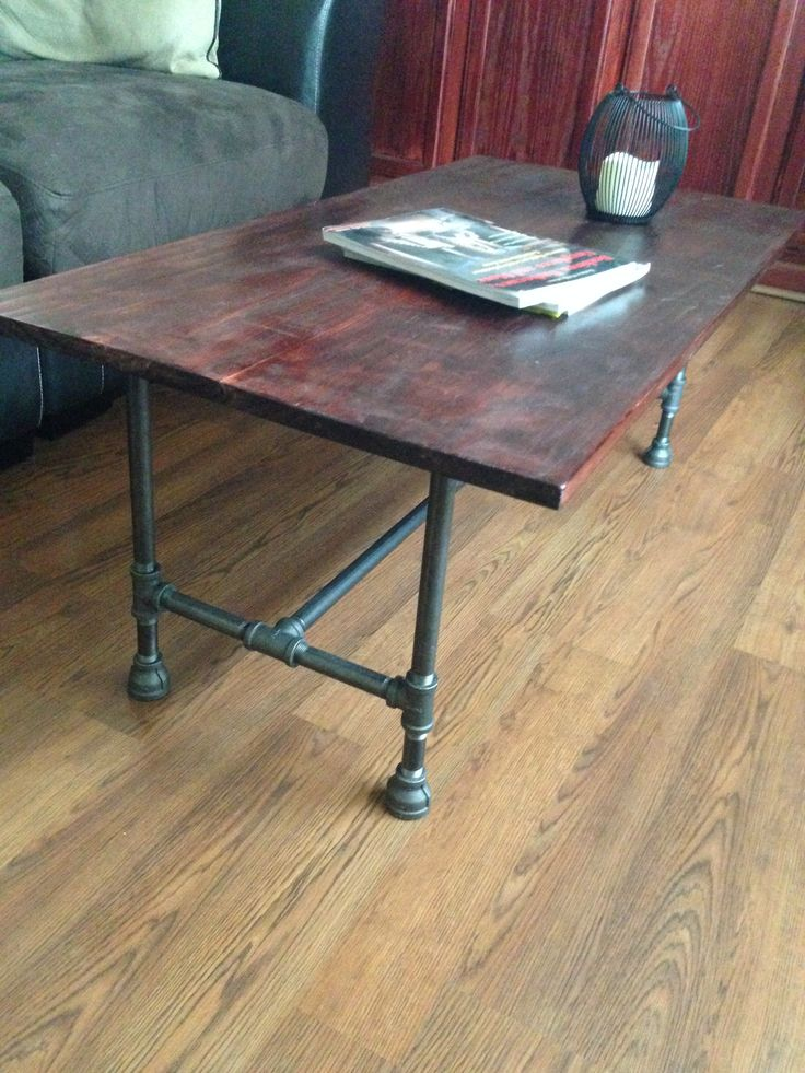 Black Iron Pipe Coffee Table   By Reclamation Garage