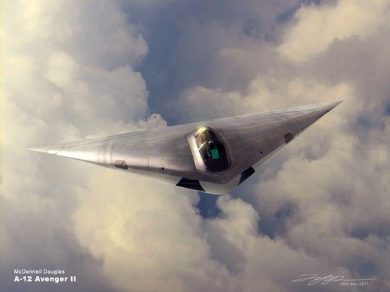 The Flying Dorito - A-12 Avenger II. It never flew, as far as we know.