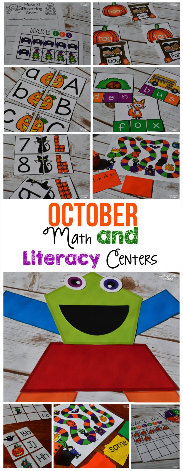October Centers for Halloween and two FREEBIES!