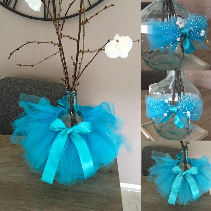 Blauwe tutu met haarband voor Newborn shoot