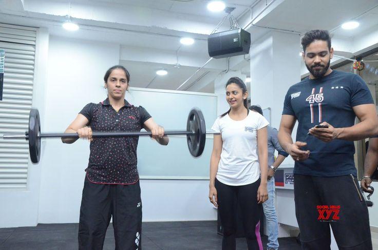 Saina Nehwal Launches Rakul Preet Singhs F45 Gym At Kokapet Gallery Set 2 - Social News XYZ