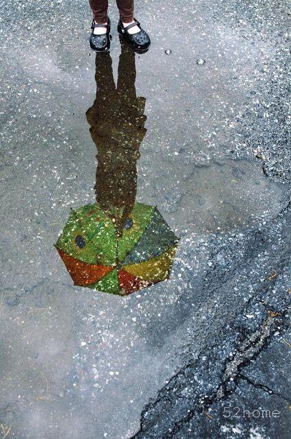 Rainy WeatherPhotos, Umbrellas Shadows, Puddle Reflections, Umbrellas Reflections, Rain Reflections, Colors Rainbows, Umbrellas Art, Rain Photography, Rainbows Umbrellas