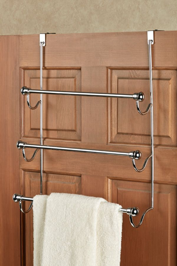 The Over The Door Towel Rack Always Keeps Your Towels Out Of The
