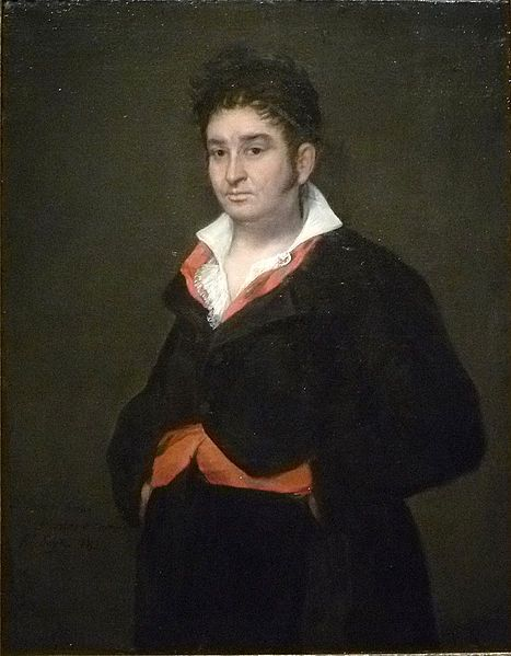 "Francisco de Goya:   ""Portrait of Don Ramón Satué"" (Satué was a judge in the highest tribunal of Castile), 1823,  oil on canvas, Dimensions: 104 × 81.3 cm (40.9 × 32 in), Current location: Rijksmuseum Amsterdam"