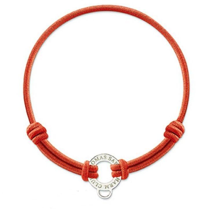 Červený elastický náramok THOMAS SABO X0102-087-10 | MOLOKO