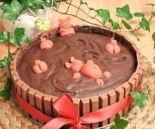 Rezept Variation von Nutellakuchen/Schweinchen im Faß von Cathys - Rezept der Kategorie Backen süß