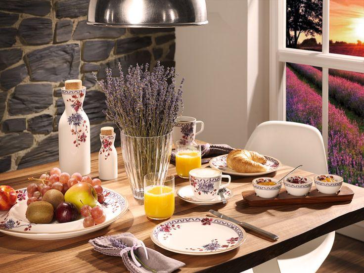 BRANDS:   Villeroy & Boch in 10 frames. | Artesano Provençal Lavender plate set, Isabelle de Borchgrave, 2015 | #designbest @villeroyandboch