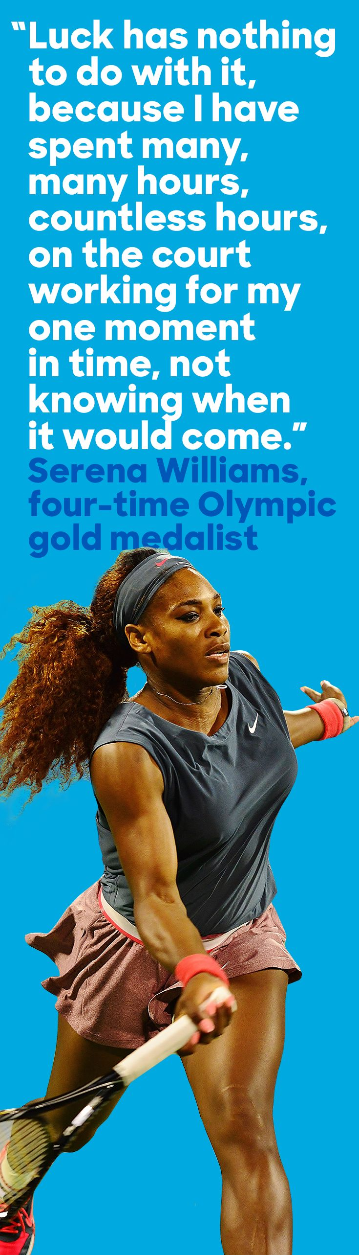Four gold medals and counting: Today, Serena Williams hits the Olympic court in Rio to add to her collection.