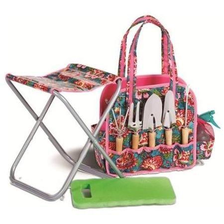 9-Pc Trellis Deluxe Garden Tote Tool Set - Walmart.com