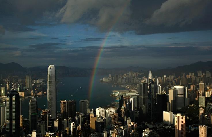 Rainbow over Hong Kong