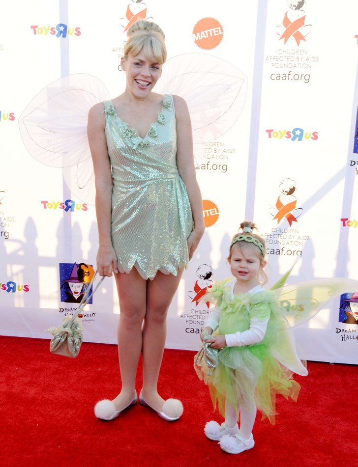 Pin for Later: The Best Celebrity Family Halloween Costumes Busy Philipps and Her Daughter Birdie as Tinker Bells