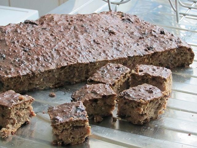 Dog treat liver cake, my 2 Newfoundlands love this. Easy to make and freezes well.