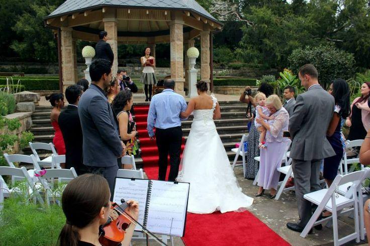 Sharon and Jason's wedding at the Royal botanic garden