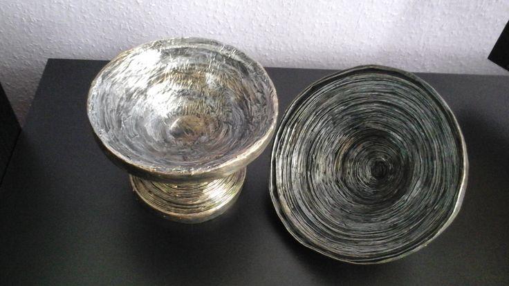 Jar of sweet - made of newspaper