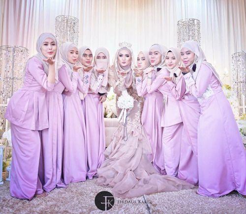 Cantikkan bila hari bahagia anda di apit oleh #bridesmaid... #wedding #weddings