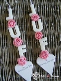 Zeepketting Juf - roze