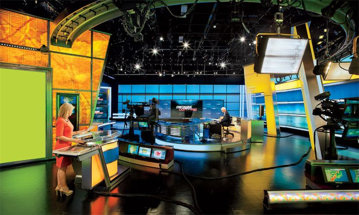 On set at the Weather Channel, there are robotic cameras, LED lighting systems, and washable vinyl walls--all made by small U.S. companies. Here's a look inside.