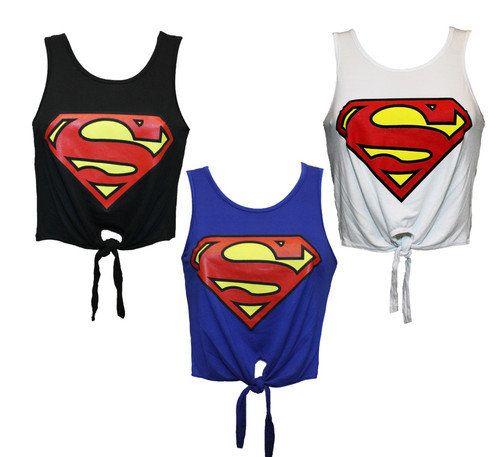 Superman crop top