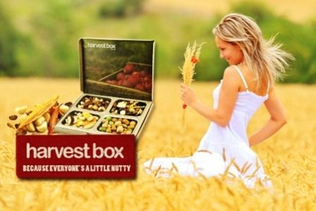 Harvest Box brings you healthy snacks straight to your desk!  Here's how it works…  Snacking Pleasure: You get 4 portions of snacking pleasure in each box. You tell them what you like and don't like by rating their product range. Based on your choices, they select from a growing range of over 50 mixes of nuts, dried fruit, seeds and fill the box just for you.