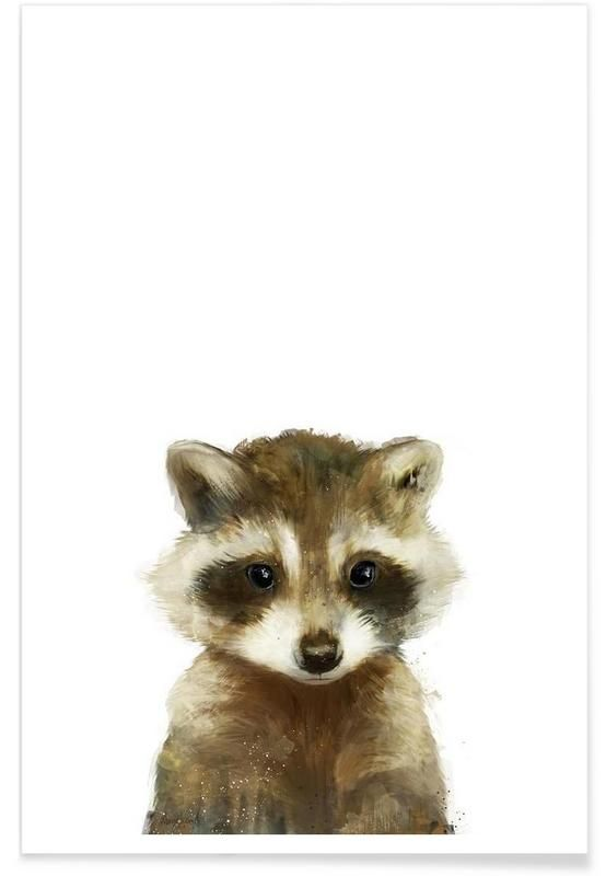 Little Raccoon als Premium Poster von Amy Hamilton | JUNIQE