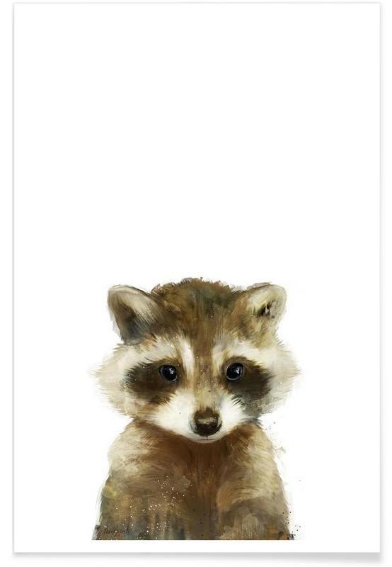 Little Raccoon als Premium Poster von Amy Hamilton | JUNIQE #illustrationen #tiere