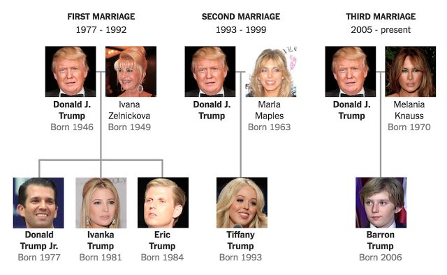 BILLIONAIRE GAMBLER™: Donald Trump family tree