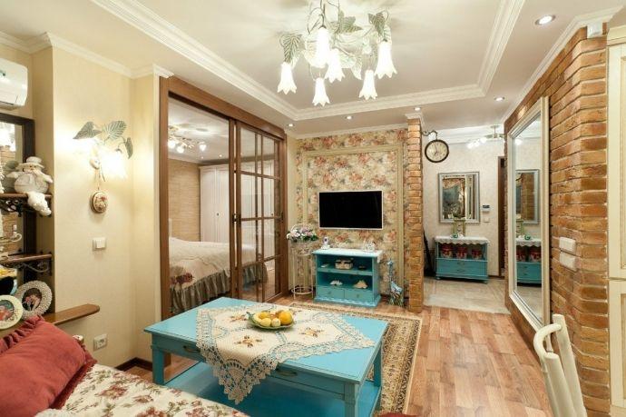 Интерьер квартиры площадью 60 кв.м. с элементами Прованса - Дизайн интерьеров | Идеи вашего дома | Lodgers