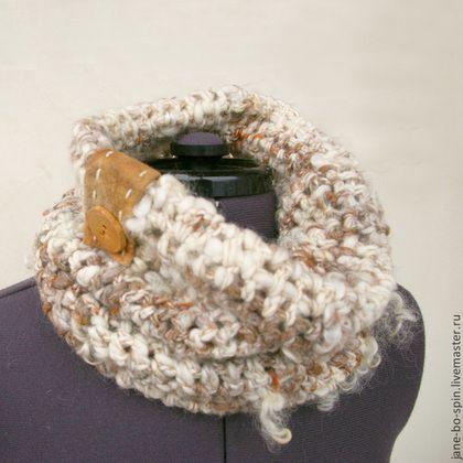 Вязаный шарф снуд женский - вязаный шарф,шарф снуд,Вязаный хомут,шарф хомут