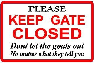 Goats farm goat gate sign