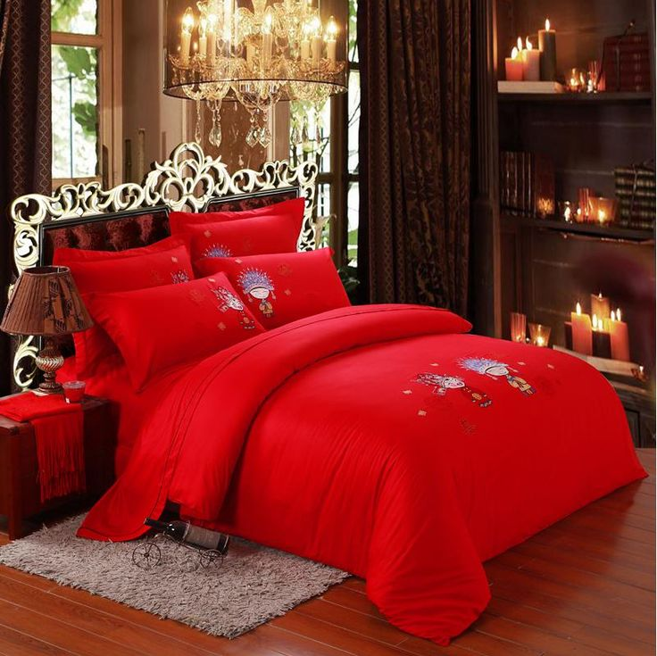 Wholesale Bed In a Bag - Buy Yous Home Textiles,embroidered Bedding Set,reactive Printed Red Wedding Bedding Set,red Duvet Cover Set,bedspread,bed Sheet Set,bedclothes, $87.54 | DHgate
